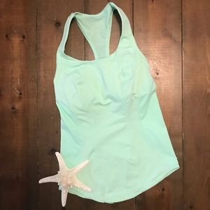 Lululemon Mint Green Racer Back Tank Top